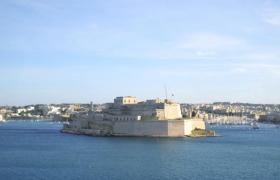 Вид с моря на Мальту