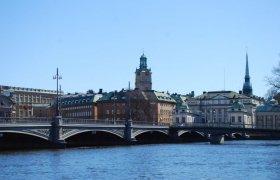 Мост на остров Стадсхолмен в Швеции