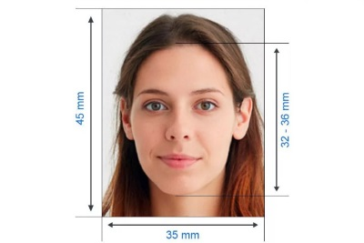 Как должно располагаться лицо на фото для визы